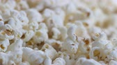 Macro shot with focus shift on a pile of popcorn