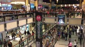 Wide shot of Christmas eve shopping on Abasto Buenos Aires mall, Argentina