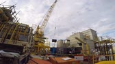 honda : Offshore crane lifting busket in less space on platform
