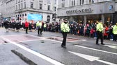 aberdeen : ABERDEEN SCOTLAND - 29 November 2015: Crowded people and The Christmas parade on the Union Street in Aberdeen, Scotland, to celebrate the upcoming Christmas on 29 November 2015.