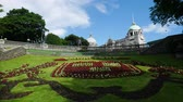 aberdeen : Union Terrace Gardens in Aberdeen Scotland United Kingdom on Sunny Day Timelapse Stock Footage