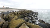 aberdeen : Wave, Rock and Peace at Aberdeen Beach Scotland, UK Stock Footage