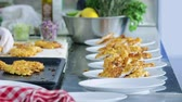 gastronome : Working in the kitchen Stock Footage