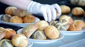 gastronome : Freshly baked buns in the kitchen