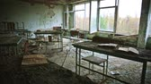 škola : Abandoned Classroom in School number 5 of Pripyat, Chernobyl Exclusion Zone 2019