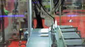 processes : Automatic robot arm working in industrial environment Stock Footage