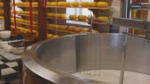 coalhada : Process of cheesemaking with rotating mixer closeup