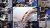 collage : High-voltage electrical equipment priduction. 4K.