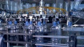 refill : Empty bottles discharged from washer. Stock Footage