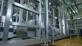 complexidade : A dairy factory pipework, barrels and controllers. Stock Footage