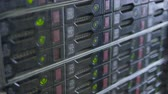 transfer station : Endless rows of operation server hard drives.