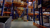 engradado : Warehouse interior. Storage facility with no people. Steadicam shot. 4K.