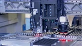 microprocessador : Computer elements production. Microelectronics manufacturing line. 4K. Vídeos