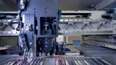 mikroişlemci : Motheboard manufacturing line. Printed circuit board production. 4K. Stok Video