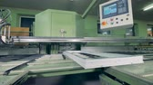 industrial revolution : Conveyor Belt assembling plastic details. Automated machine on a factory production line. Stock Footage