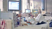 hemo : Modern hospital room with hi-tech medical equipment. Stock Footage