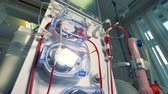 mocz : A close low view on a dialysis machine. Wideo