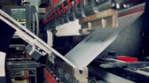 folding machine : A stainless steel sheet bending process.