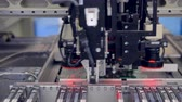 датчик : Electronics contract manufacturing. PCB circuit chip production process. 4K.