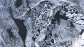 chunk : A rotating view on broken river ice. Stock Footage