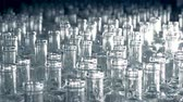 oil industry : Plenty of glass bottles are moving forward placed very closely to each other Stock Footage