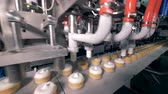 wafers : Ice-cream production equipment in a modern food factory. Stock Footage