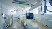 hospital : View of a surgery room with special medical equipment. 4K.