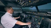 finder : A flight simulator is demonstrating taking-off process under instructors control