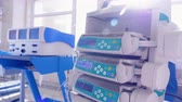 profissional : Medical equipment in clinic.