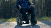 paralyzed : Lower-body half of a paraplegic person sitting in a wheelchair