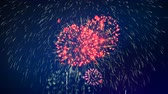 pirotecnia : Lots of fireworks on a celebration. Stock Footage