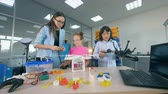 multicopter : Young school children in school research lab study aerial technologies - drones, copters, aircrafts.