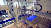 wynalazek : Factory mechanism relocating solar cells. Modern factory automated equipment. Wideo