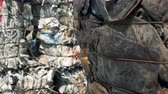 recyclable : Piles of trash at a big dump, close up. Stock Footage