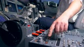 aviador : Person pushes buttons on a plane dashboard, close up. Stock Footage