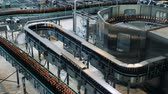 enlatamento : Industrial conveyors transporting beer bottles made of glass