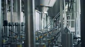 distribution : Premises of distillery unit filled with equipment Stock Footage