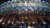 engarrafado : Beer is getting poured into plastic bottles while moving Vídeos
