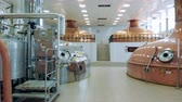 espaçoso : Beer-producing factory with copper canisters