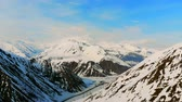 stunning view : Beautiful mountain scenery filmed from above Stock Footage