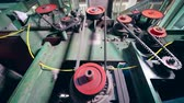 コグ : Modern machine works at a plant, rotating gears. 動画素材