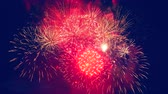 gloria : Red and golden splashes of fireworks