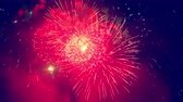 gloria : Darkness is being illuminated with fireworks Archivo de Video