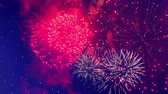 gloria : Festive explosions of fireworks at night