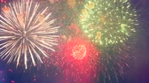 gloria : Gleams of colourful fireworks are bursting