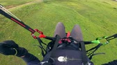 paragliding : First-person view of the parasailing flight