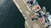 groeve : One barge with sand on extraction site.