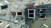 scaffolding : Top view of a concrete platform being constructed