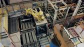 complex system : Robotic arm at the industrial factory. Industrial revolution 4.0