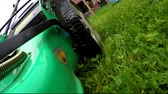 view : Side view of a mower. lawn mower